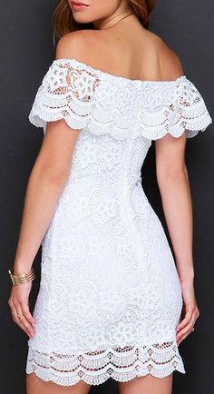 12 Best Looks with White Lace Dress All Black Dresses, Spring Dresses Casual, Trendy Dresses, Dresses For Teens, Simple Dresses, Nice Dresses, Short Dresses, Fashion Dresses, Summer Dresses