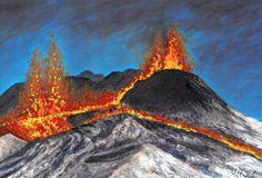 Volcanoes, Tempera, Painters, Pastel, Statue, Art, Art Background, Cake, Kunst