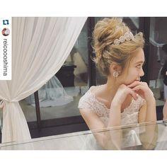 いいね!3,425件、コメント8件 ― ɢᴇɴᴅᴀɪさん(@gen_dai)のInstagramアカウント: 「marry会イベント モデルの @reicoooshima ちゃん✨ 本日参加頂きました皆様ありがとうございました😊🙏🏻 #takamibridal#marry会#bridal…」 Romantic Hairstyles, Creative Hairstyles, Party Hairstyles, Bride Hairstyles, Bridal Hair And Makeup, Hair Makeup, Wedding Party Hair, Hair Arrange, Japanese Hairstyle