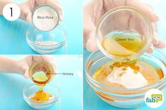 Combine rice flour, honey and green tea to make face mask to brighten skin. Foot Soak Diy