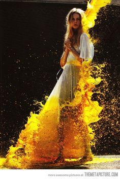 The paint dress