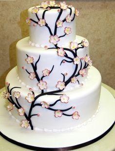 Cake Boss - Cherry blossom wedding cake