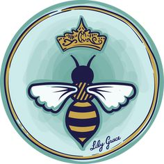 Queen Bee Decal Sticker so cuuuute!
