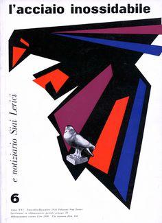L'acciaio inossidabile, N. 6 - 1958 novembre/dicembre. Progetto grafico di Ilio Negri (1926-1974)