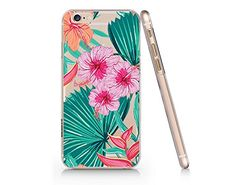 Floral Tropical Pattern Slim Iphone 6 6S Case, Clear Iphone 6 6S Hard Cover Case For Apple Iphone 6/6S -Emerishop Emerishop