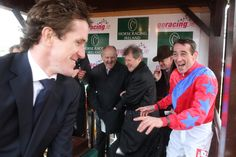 The Champions! 2011/12 Irish Champion Davy Russell & UK Champion AP McCoy celebrate the last day of the season at the Punchestown NH Festival.