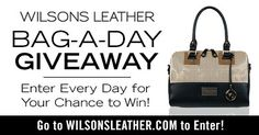 Wilson Leather's infamous Bag-A-Day Giveaway is back!