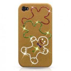 "Ultra Case Luxury Edition ""Mr. Ginger Bread"" für iPhone 4S/4 / #iPhone4 #iPhone4s #swarovski #crystal"