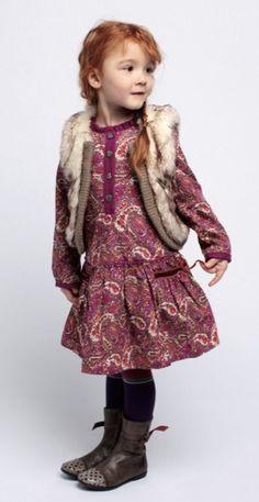 Kenzo Kids winter 2012 cute paisley 70's retro print dress