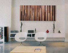 Modern Reclaimed Wood Art King Headboard in by ModernWoodWallArt