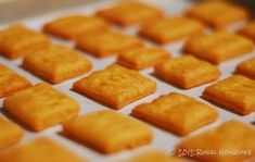 Homemade Cheese Crackers - Salty, Cheesy, Buttery Goodness