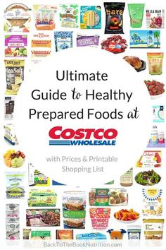 Ultimate Guide to Healthy Prepared Foods at Costco (+ Printable Shopping List) - Easy Paleo Recipes Lunch Snacks, Costco Snacks, Snacks List, Clean Eating Snacks, Healthy Eating, Costco Freezer Meals, Best Costco Food, Costco Recipes, Costco Appetizers