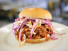 Get Pulled Pork Sandwich with BBQ Sauce and Coleslaw Recipe from Food Network