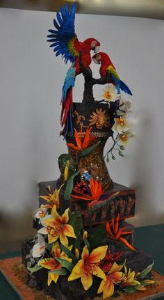 Mayan Paradise by Sandra Smiley | http://www.cake-decorating-corner.com/