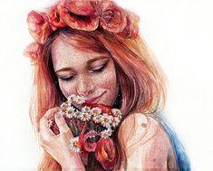 alina ivanenko by artilin - Watercolor Paintings by Lina  <3 <3