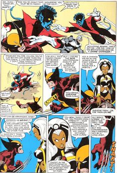 Wolverine, Mystique, Avalanche, Nightcrawler, and Storm. (X-Men Comic Book Pages, Comic Page, Comic Book Artists, Comic Artist, Comic Books Art, Hq Marvel, Marvel Comics Superheroes, Marvel Characters, Wolverine