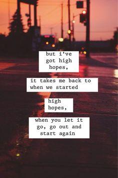 High Hopes// Kodaline