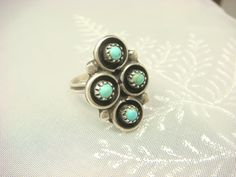 Gift for Her or Unique Promise Ring! Now FREE SHIPPING. Native American Ring / Vintage Ring / Zuni Ring by ShinePrettyGems, $59.00