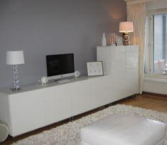 Ikea Tv Stand, Ikea Wall, Ikea Living Room, Studio Apartment Decorating, Ikea Home, Home And Living, Living Room Designs, Interior Design, Furniture