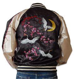 Sukajan Jacket - Tsuru - Black