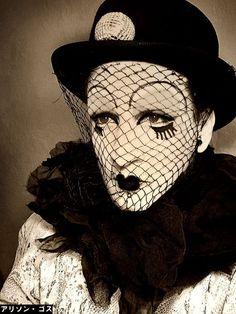 Emcee, performance Berlin, 1930....edgy clown...