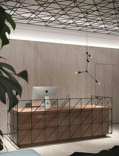 Modern And Cozy Office Interior Design Ideas To Makes You Feel Comfortable 15 Commercial Interior Design, Office Interior Design, Commercial Interiors, Office Interiors, Office Designs, Office Counter Design, Modern Interior, Modern Luxury, Design Room