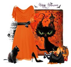 """""""Black Cats On Halloween"""" by love-n-laughter ❤ liked on Polyvore featuring Improvements, Masquerade, Michael Kors and Christian Louboutin"""