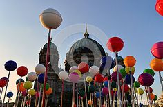 lollipopson the background of the beautiful Gothic cathedral in Berlin