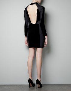 Zara COMBINATION VELVET DRESS