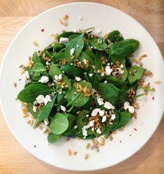 Recipe Details | KAMUT® Brand Khorasan Wheat, Baby Spinach Salad with Orange-Pepper Dressing | Kamut Brand® Khorasan Wheat