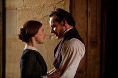 Mia Wasikowska (Jane Eyre) & Michael Fassbender (Mr. Edward Fairfax Rochester) - Jane Eyre (2011) directed by Cary Fukunaga #charlottebronte