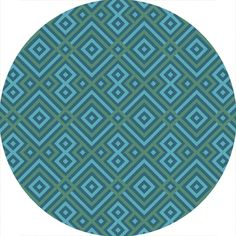 $166.59 Size: 6ft round Color: teal  Bring luxury to your home with this geometric pattern area rug. Hand-Hooked with 100-percent polyester in China, definitely will add a pop of color and the finishing touch to your décor.