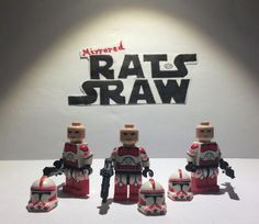 Lego Star Wars minifigures - Clone Custom Troopers x3 Shock Troopers SPECIAL Star Wars Clone Wars, Lego Star Wars, Lego Figures, Clone Trooper, Invite Your Friends, Sliders, Invitations, Holiday Decor, Mini