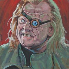 Mad Eye Moody from Harry Potter… Done on 6x6 inch Aquabord with Winsor & Newton Gouache Paints