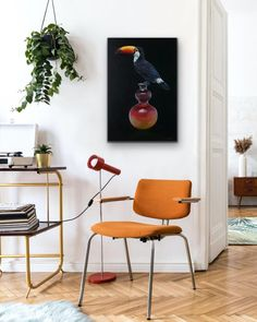 Grace Kotze: Toucan And Antique Vase: fine art   StateoftheART Modern Prints, Mid-century Modern, Modern Design, Art Prints, Modern Wall, Framed Prints, Grand Art Mural, Industrial Wall Art, Modern Industrial