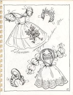 BALLET 19th Century Costumes Book 2 Paper Dolls by Charles Ventura <> 17 of 20