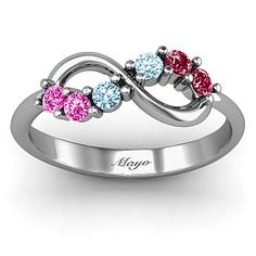 Mayo Family Ring...mother's day Split Infinity Ring | Jewlr