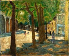 bofransson: Boulevard Exelmans, Paris, 1925 Pierre Bonnard (French, 1867-1947) This reminds me of my Grandfathers artwork.