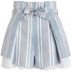 Cl Fashion, Fast Fashion, Curvy Fashion, Street Fashion, Fashion Trends, Style Personnel, Paper Bag Shorts, Lace Trim Shorts, Crochet Shorts