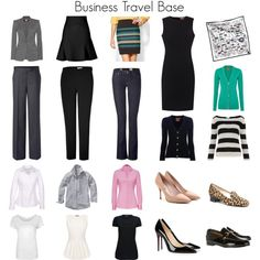 """""""Business Travel Base"""" by with-grace on Polyvore.... maybe look for similar pieces?"""