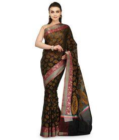 Banarasi Floral Saree | Shopo.in
