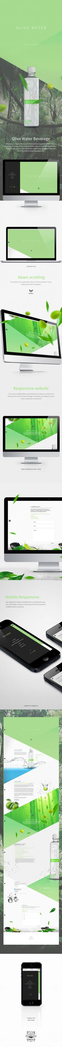 Olive Water website on Behance