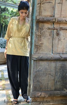 having fun with the traditional Indian pants. Reinventing classic fashion combinations and having fun with them
