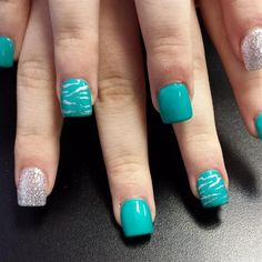 Teal Tiger by nailchic9 from Nail Art Gallery