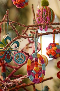 hippie christmas tree - Google Search