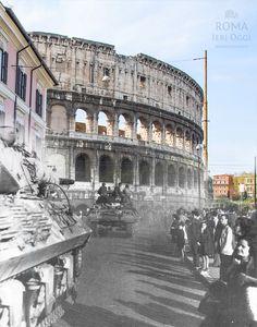 5 giugno 1944 Anno: 1944 Posizione: Via di S. Giovanni in Laterano #1944 #roma #rome #rephotography #colosseo