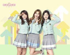 IOI and Pentagon Model 'Elite' Uniforms for Photoshoot School Uniform Girls, Girls Uniforms, Extended Play, South Korean Girls, Korean Girl Groups, Ioi Nayoung, Jung Chaeyeon, Choi Yoojung, Kim Sejeong