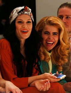 Jessie J and Paloma Faith were seen bonding on the front row at Westwood