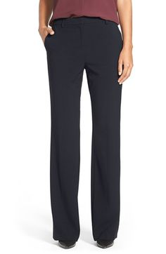Free shipping and returns on Ellen Tracy Slim Bootcut Trousers (Regular & Petite) at Nordstrom.com. A trouser cut that widens slightly at the lower leg lends flattering balance from hip to toe for staple black work pants tailored from a seasonless stretch fabric.