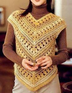 Blusas em Crochê com Gráfico da Web - Katia Ribeiro Moda e Decoração Handmade